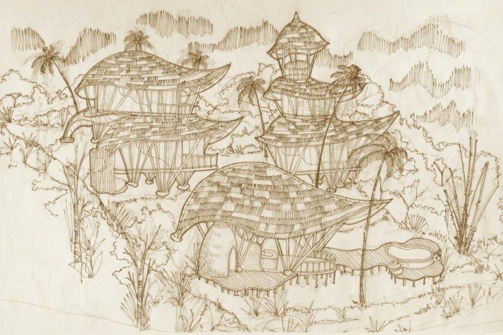 Ananda House sketch