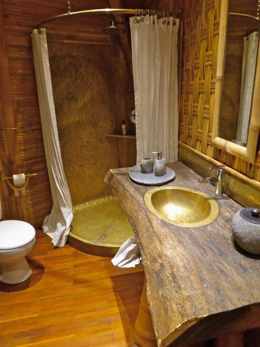 Frangipani en-suite bathroom the brass shower