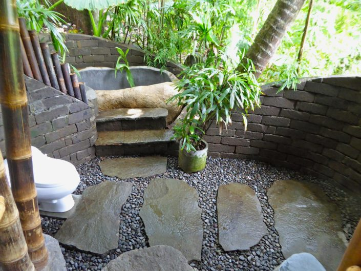 The Orchid outdoor stone bath