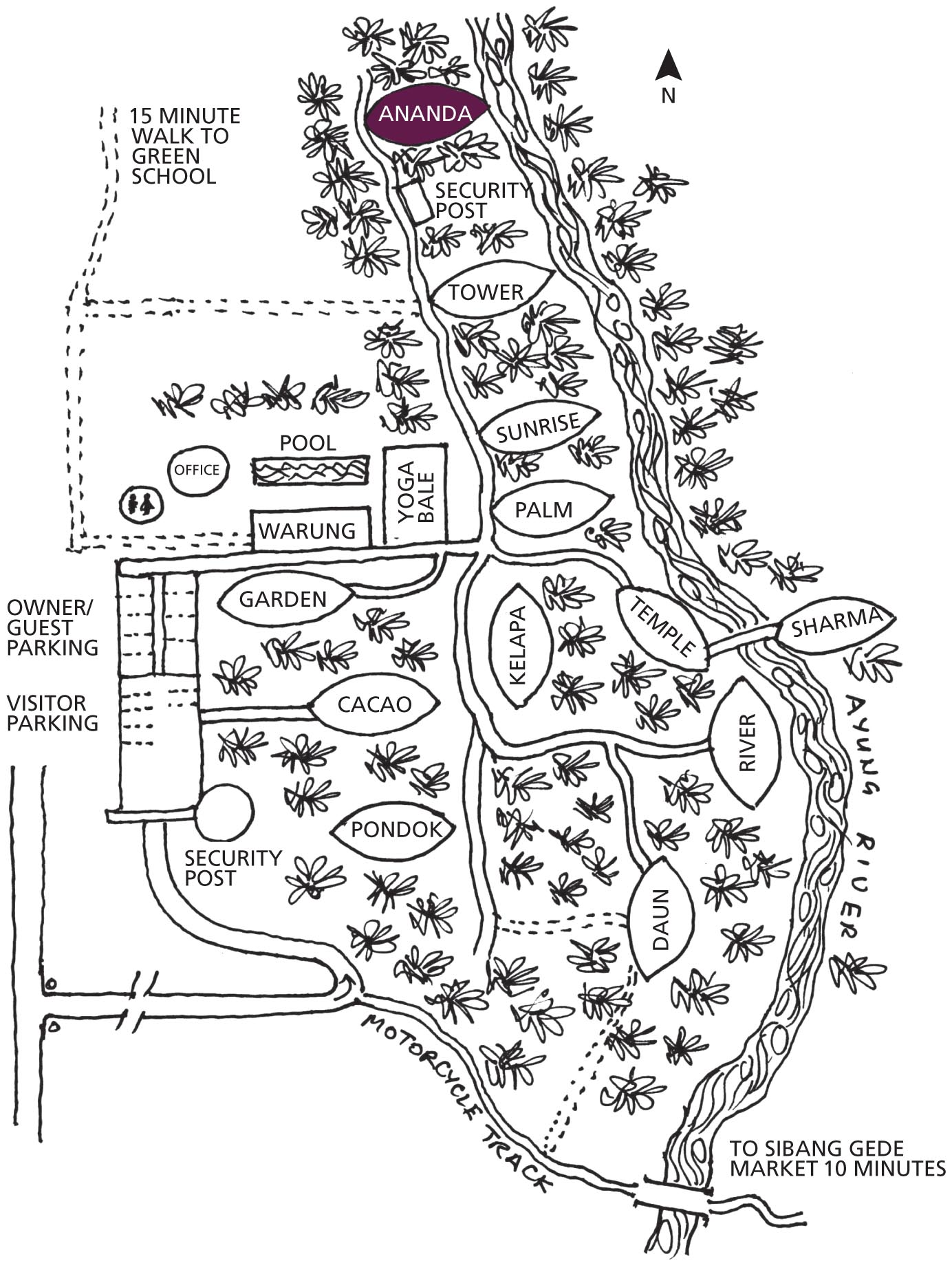 Green village map
